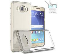 For Samsung Galaxy J7 (2016) Case Slim Hybrid Hard Phone Cover Clear A