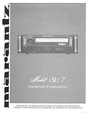 Marantz ST-7 Tuner Owners Instruction Manual