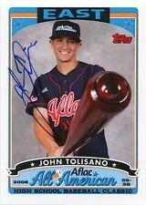 2008 Bowman DP&P AFLAC John Tolisano On Card Autograph Toronto Blue Jays