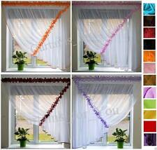 READY MADE NET VOILE CURTAINS MANY COLOURS AMAZING FOR YOU