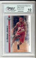 LeBron James 2003 Phenomenal Beginnings #11 Upper Deck Rookie Card  PGI 10
