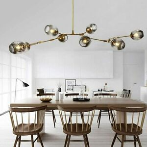 8-Lights Modern Molecular Sputnik Chandeliers Nordic Bubble Ball Ceiling Light
