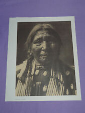 "Edward Curtis Native American Indian Vintage Photo Print ""OGALALA WOMAN"""
