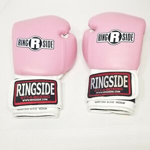 Ringside Pink Medium Bag Gloves Boxing Workout Cross Training Breast Cancer Pink