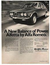 "1976 Alfa Romeo Alfetta original vintage print ad - 8""x11"" 1975 GT Coupe"
