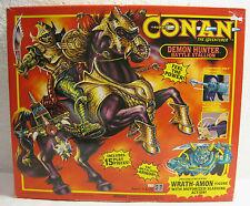 NIB 1992 CONAN The Adventurer: Demon Hunter Battle Stallion w/ Wrath-Amon Figure