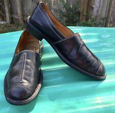 Ciro Schiano Belvedere Hand Made Italian Leather Loafers, Black, Size 10 Perfect