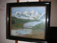 Peinture huile sur toile signée Jartot dans cadre Napoléon lll vitré
