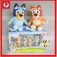 2 Plush BLUEY & BINGO + 4 Pack Family Figure Figurine Set Toy ~ NEW