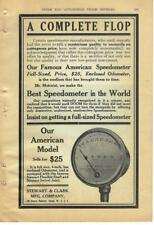 1908 Stewart & Clark Speedometer Ad/ later Stewart-Warner