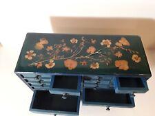 Petit meuble de rangement en bois peint 16 tiroirs