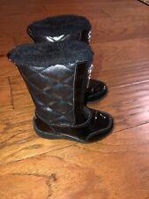 Khombu Toddler Girl Winter Boots Black Patent Waterproof 7
