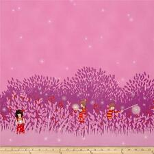 "By 24"" Panel Wee Wander Sarah Jane Summer Night Lights Magenta M. Miller Fabric"