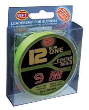 WFT 12 + 1 Plus One Centre Braid Braided Fishing Line 150m 20lb / 9kg Yellow