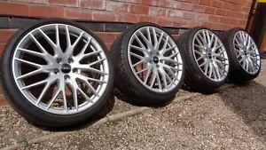 "Genuine 20"" Audi TT Forged Alloy Wheels Optional Extra TTS TTRS 8S0601025S 5x112"
