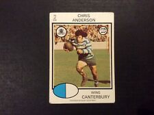 1975 Scanlens Rugby League Card No 73 Chris Anderson Canterbury