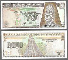 GUATEMALA 1/2 0.50 QUETZAL  (1998),  P-98 , XF / AUNC NOTES
