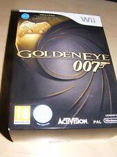 Wii GOLDENEYE 007 James Bond Inc Ltd Edition Gold Classic Controller Nuevo Sellado