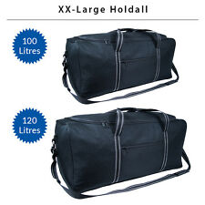 Super Lightweight XL Travel Holdall Duffel Sports Holiday Luggage Bag Black SALE