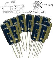 12x Panasonic FC 470uF 35v radial capacitors 3000 hrs @ 105C 10mm 10x20 (mm)