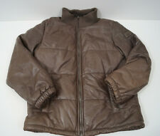 DOLCE & GABBANA Boys Brown Lambskin Leather Quilted Lined Bomber Jacket Sz:9/10