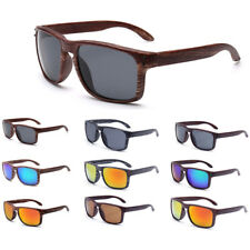Vintage Retro Faux Wooden Wood Sunglasses Glasses Shades Eyewear Women Mens