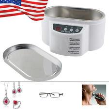 600ml Mini Ultrasonic Cleaner Bath For Cleanning CleanJewelry Watch Glasses Lens