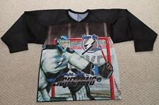 CCM Tampa Bay Lightning Vintage 90's Graphic Hockey Jersey - Medium Goalie Print