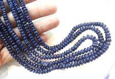 sapphire Rondelle 4 mm bead Strand Top Grade! Natural untreated original Burmese