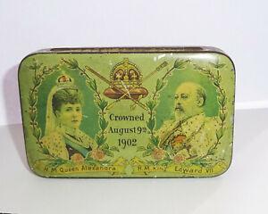 Vintage Boîte Mariage Queen Alexandra & King Edward VII August 1902 Boite Metal