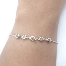 World Class .50ctw Golden Citrine 925 Sterling Silver Bracelet