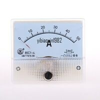 1pcs 85C1-A DC 0-50A Rectangle Analog Panel Ammeter Gauge Ampere Meter Tester