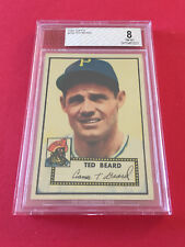 1952 TOPPS TED BEARD BVG 8.CARD NO:150 RED BACK NEAR MINT- MINT CONDITION