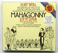 Weill: Rise and Fall of the City of Mahagonny NEW 2-CD Box Set (CBS Masterworks)