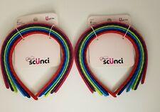 Scunci - Wavy Headbands - Bright Colors 6 ct Lot of 2  #22017