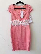 Paper Dolls Pink White Lace Shift Bodycon Dress Size 10 0811/0813