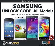 Telus Koodo Samsung Unlock Code Galaxy S4 S5 S6 S7 S8 Note 3 4 5 Edge Core Alpha