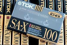 TDK SA-X 100 HIGH BIAS TYPE II BLANK AUDIO CASSETTE - 1991