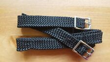 plaited nylon Equestrian Spur Straps one size in black for spurs
