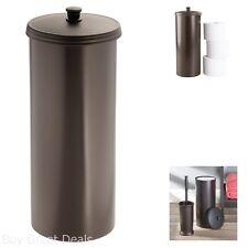Toilet Paper Roll Tissue Holder Reserve Canister Bathroom Storage Organizer Easy