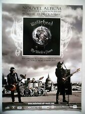 PUBLICITE-ADVERTISING :  MOTORHEAD  2010 Nouvel album,The World is Yours