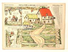 Pellerin Imagerie D'Epinal- 950 Cour de Ferme Bretagne Moyenne paper model