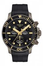 New Tissot SEASTAR 1000 Chronograph Black Dial Men's Watch T120.417.37.051.01