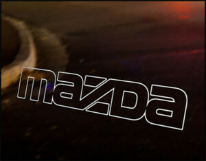 MAZDA LOGO JDM Decal vinyl sticker, MX5 Miata Eunos