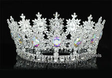 AB Stones Pageant Imperial Sparkling Tiara Full Circle Round  King Crown AT1828