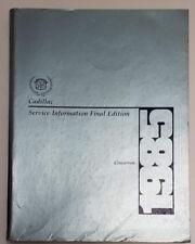 1985 Cadillac Cimarron Repair Service Shop Manual Final Edition Factory Gm