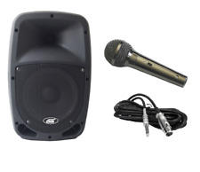 Audio2000'S 6407 Rechargeable Portable PA System w/ADM1064 Wired Microphone-MR
