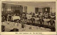 Schiffe Seefahrt 1924 Speisesaal Dampfer OHIO New York Linie Ship Postcard AK