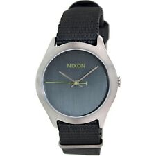Nixon Men's Mod A348147  Charcoal Cloth Quartz Watch Brand New!