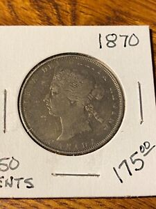 1870 CANADA 50 CENTS..F - VF...